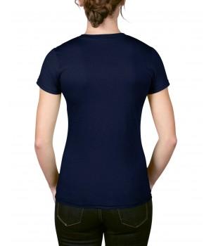 Тъмно синя  дамска тениска