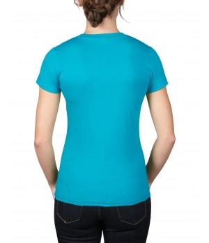 Caribean blue Lady Fit S/S sleeve t-shirt