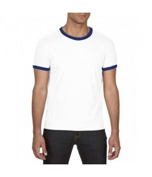 Тениска Ringer tee с тъмно синьо бие