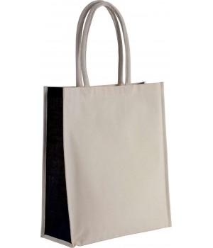 Плажна чанта с къси дръжки двуцветна