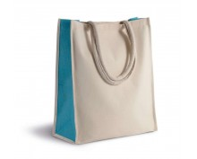 Cotton canvas tote bag short handle