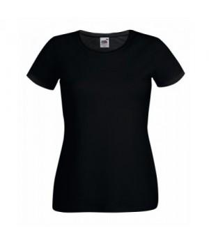 Черна дамска тениска Fruit of the loom