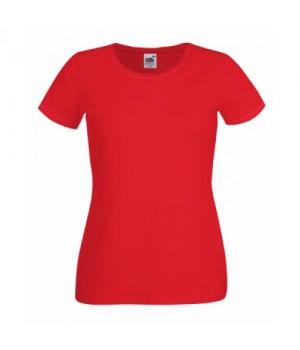 Червена дамска тениска Fruit of the loom