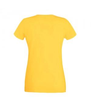 Жълта дамска тениска Fruit of the loom