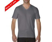 Мъжка тениска шпиц деколте