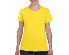Дамска Тениска Гилдан ID5000 Жълта