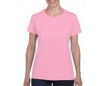 Дамска Тениска Гилдан ID5000 Розова